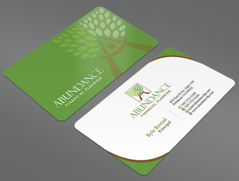 Abundance Financial Planning Business Cards and Stationery  Draft # 24 by ArtworksKingdom