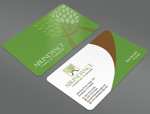 Abundance Financial Planning Business Cards and Stationery  Draft # 34 by ArtworksKingdom