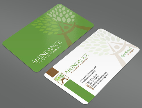 Abundance Financial Planning Business Cards and Stationery  Draft # 35 by ArtworksKingdom