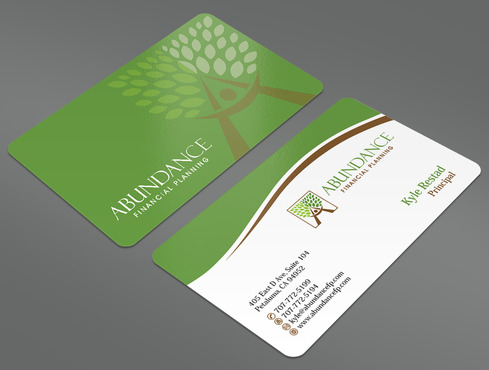 Abundance Financial Planning Business Cards and Stationery  Draft # 36 by ArtworksKingdom