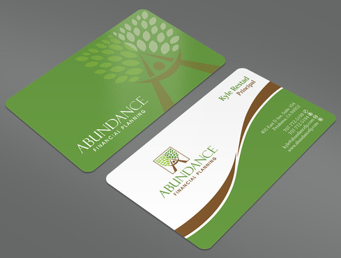 Abundance Financial Planning Business Cards and Stationery  Draft # 37 by ArtworksKingdom
