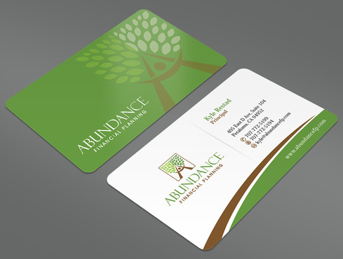 Abundance Financial Planning Business Cards and Stationery  Draft # 40 by ArtworksKingdom