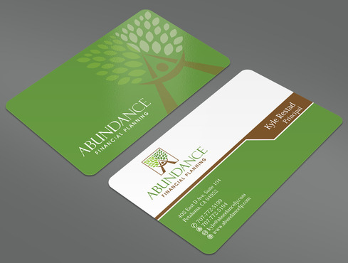 Abundance Financial Planning Business Cards and Stationery  Draft # 41 by ArtworksKingdom