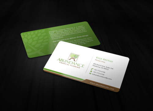Abundance Financial Planning Business Cards and Stationery Winning Design by einsanimation