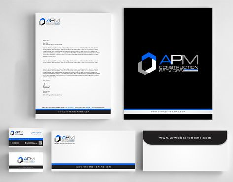 APM Construction Services, LLC (Design A) and Assured Property Management, LLC (Design B) Business Cards and Stationery  Draft # 288 by Dawson