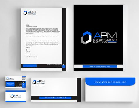 APM Construction Services, LLC (Design A) and Assured Property Management, LLC (Design B) Business Cards and Stationery  Draft # 290 by Dawson