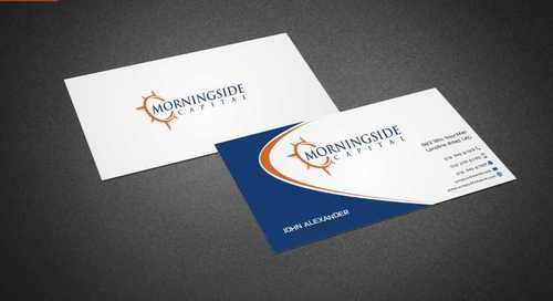 Morningside Capital Business Cards Business Cards and Stationery  Draft # 202 by Dawson