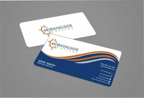Morningside Capital Business Cards Business Cards and Stationery  Draft # 203 by Dawson