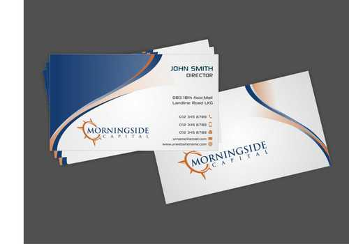 Morningside Capital Business Cards Business Cards and Stationery  Draft # 205 by Dawson