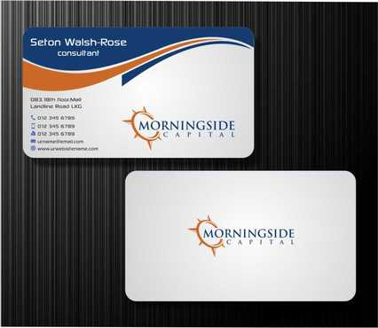 Morningside Capital Business Cards Business Cards and Stationery  Draft # 206 by Dawson