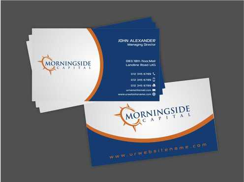 Morningside Capital Business Cards Business Cards and Stationery  Draft # 211 by Dawson