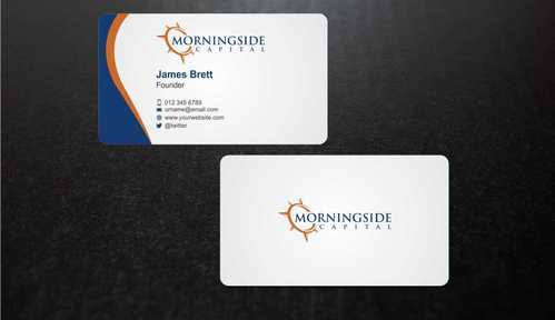 Morningside Capital Business Cards Business Cards and Stationery  Draft # 212 by Dawson