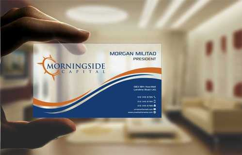 Morningside Capital Business Cards Business Cards and Stationery  Draft # 214 by Dawson