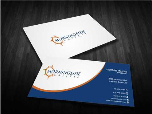 Morningside Capital Business Cards Business Cards and Stationery  Draft # 215 by Dawson