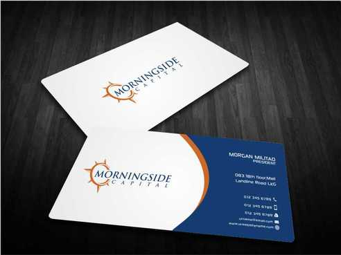 Morningside Capital Business Cards Business Cards and Stationery  Draft # 216 by Dawson