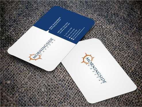 Morningside Capital Business Cards Business Cards and Stationery  Draft # 219 by Dawson