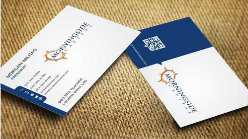Morningside Capital Business Cards Business Cards and Stationery  Draft # 220 by Dawson