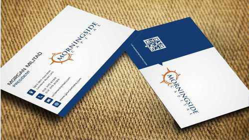 Morningside Capital Business Cards Business Cards and Stationery  Draft # 221 by Dawson