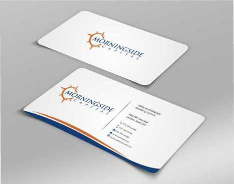 Morningside Capital Business Cards Business Cards and Stationery  Draft # 222 by Dawson