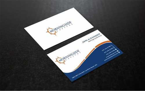 Morningside Capital Business Cards Business Cards and Stationery  Draft # 225 by Dawson