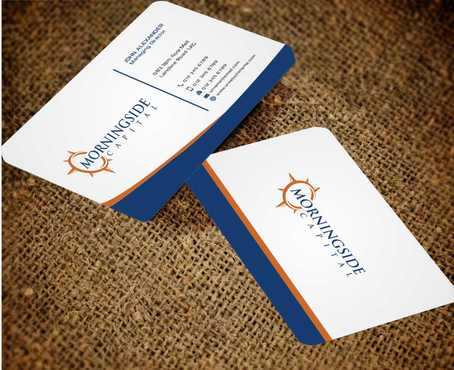 Morningside Capital Business Cards Business Cards and Stationery  Draft # 227 by Dawson