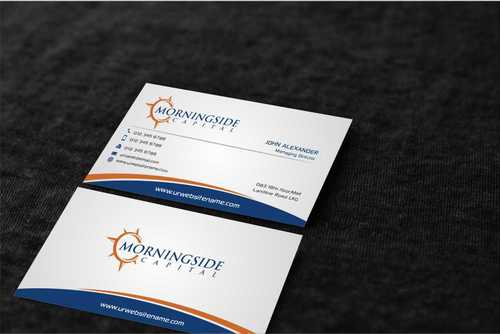 Morningside Capital Business Cards Business Cards and Stationery  Draft # 228 by Dawson