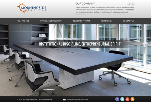 Morningside Capital - Website Complete Web Design Solution  Draft # 136 by SteveJobs