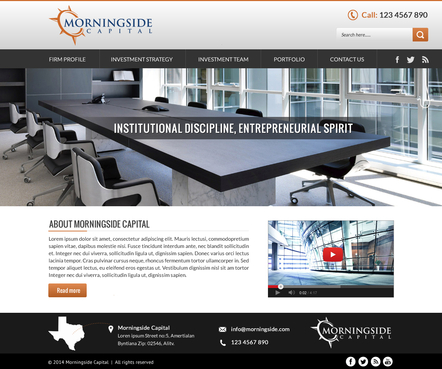 Morningside Capital - Website Complete Web Design Solution  Draft # 137 by SteveJobs