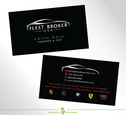 needs to stand out, but be very clean Business Cards and Stationery  Draft # 204 by honeybadger