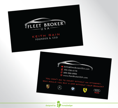 needs to stand out, but be very clean Business Cards and Stationery  Draft # 205 by honeybadger
