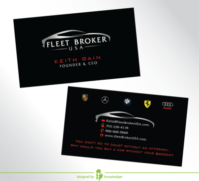 needs to stand out, but be very clean Business Cards and Stationery  Draft # 206 by honeybadger