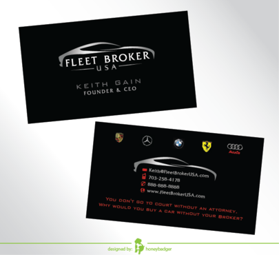 needs to stand out, but be very clean Business Cards and Stationery  Draft # 207 by honeybadger