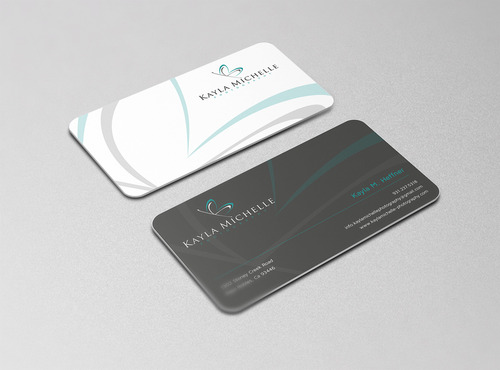 Kayla Michelle Photography Business Cards and Stationery Winning Design by graphikjam