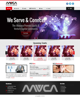 Monaco Private Equity & Venture Capital Association  Web Design  Draft # 5 by dwsparesh