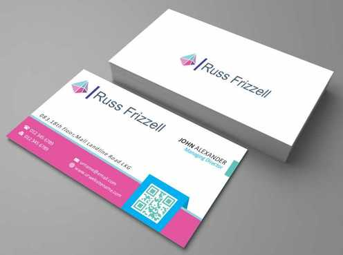 Russ Frizzell Business Cards and Stationery  Draft # 124 by Dawson