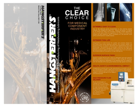 Hangsterfer's Metalworking Lubricants Marketing collateral  Draft # 10 by SandyNurry