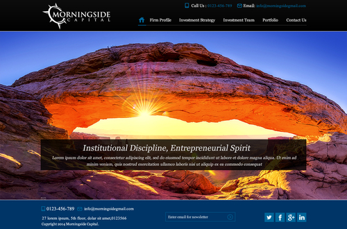 Morningside Capital - Website Complete Web Design Solution Winning Design by makeglow