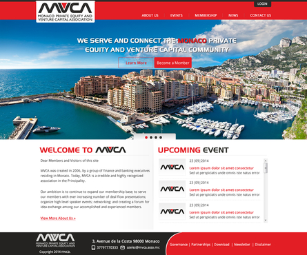 Monaco Private Equity & Venture Capital Association  Web Design  Draft # 52 by makeglow