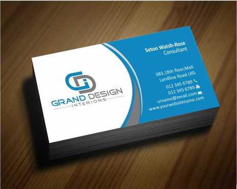 Grand Design Interiors Business Cards and Stationery  Draft # 177 by Dawson