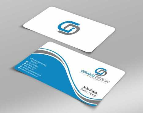 Grand Design Interiors Business Cards and Stationery  Draft # 181 by Dawson