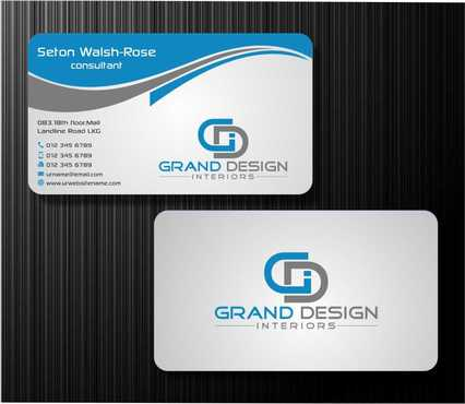 Grand Design Interiors Business Cards and Stationery  Draft # 190 by Dawson