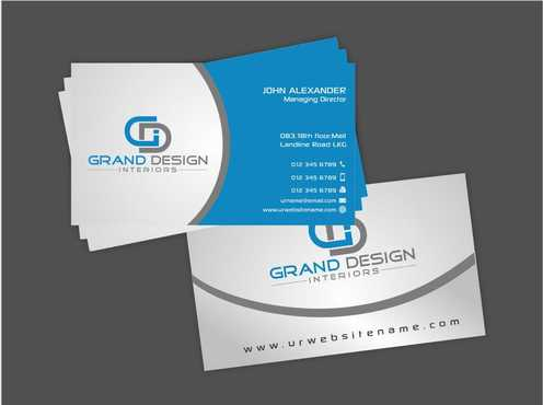 Grand Design Interiors Business Cards and Stationery  Draft # 196 by Dawson