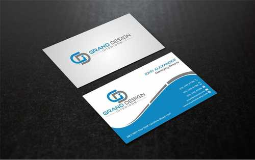 Grand Design Interiors Business Cards and Stationery  Draft # 208 by Dawson