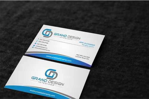 Grand Design Interiors Business Cards and Stationery  Draft # 211 by Dawson