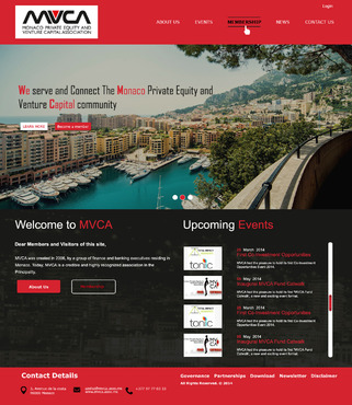 Monaco Private Equity & Venture Capital Association  Web Design  Draft # 59 by hasan110