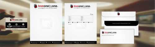 LOVE1X1.ORG Business Cards and Stationery  Draft # 216 by Dawson