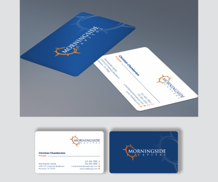 Morningside Capital Business Cards Business Cards and Stationery  Draft # 270 by teddie15