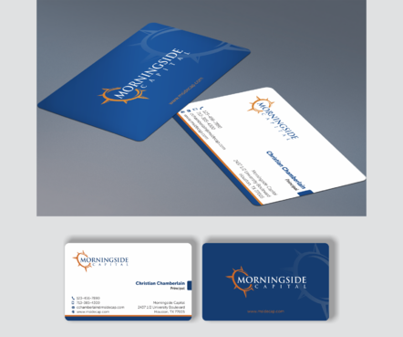 Morningside Capital Business Cards Business Cards and Stationery  Draft # 271 by teddie15