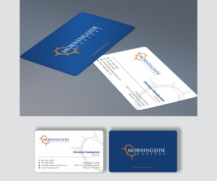 Morningside Capital Business Cards Business Cards and Stationery  Draft # 272 by teddie15