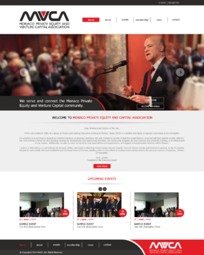 Monaco Private Equity & Venture Capital Association  Web Design  Draft # 66 by xclusivedesigns